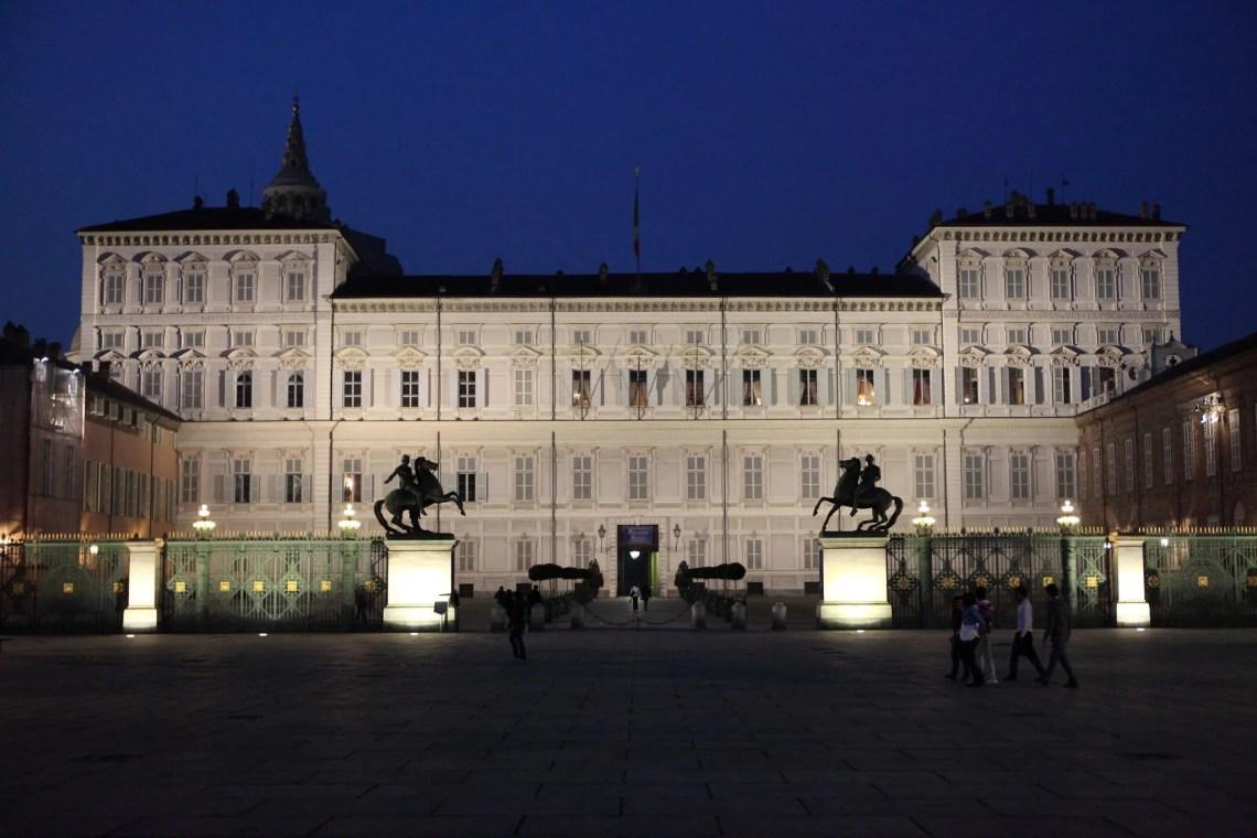 La facciata del Palazzo Reale di Torino