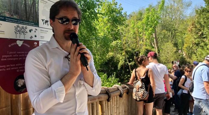 Telmo Pievani al Parco Natura Viva di Bussolengo durante le celebrazioni per la Giornata della Terra