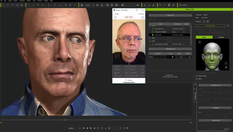 Perform to create facial animations