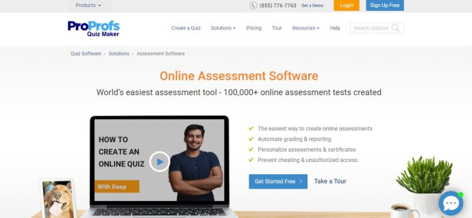 proprofs online assessment software