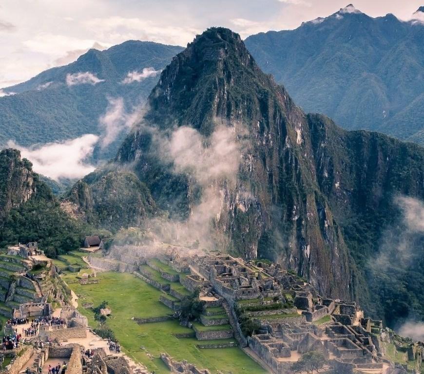 The Machu Picchu in Peru