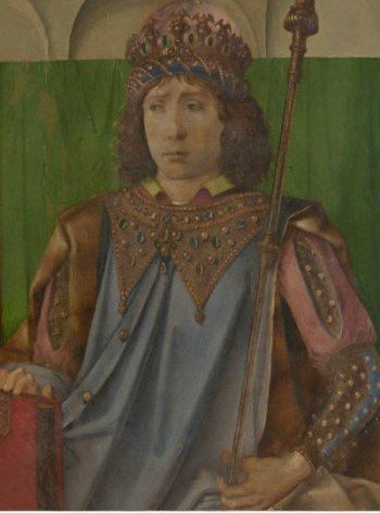 King Solomon by Justus of Ghent and/or Pedro Berruguete. Urbino, Galleria Nazionale delle Marche.