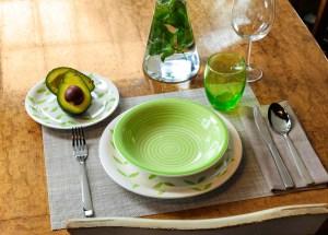 linea louise botanic - servizio piatti tognana verdi