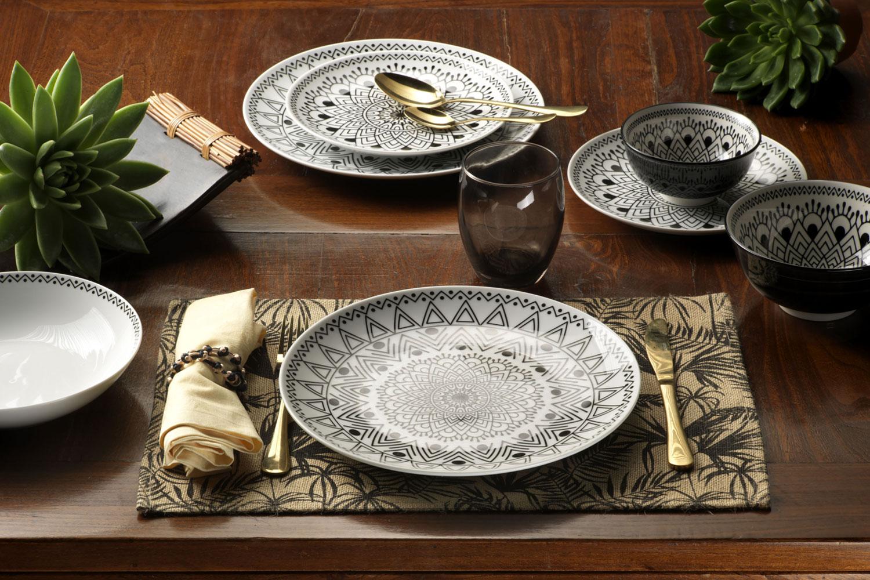 tribal-chic - servizio piatti tognana