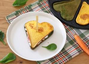 sandwich di frittata di verdure