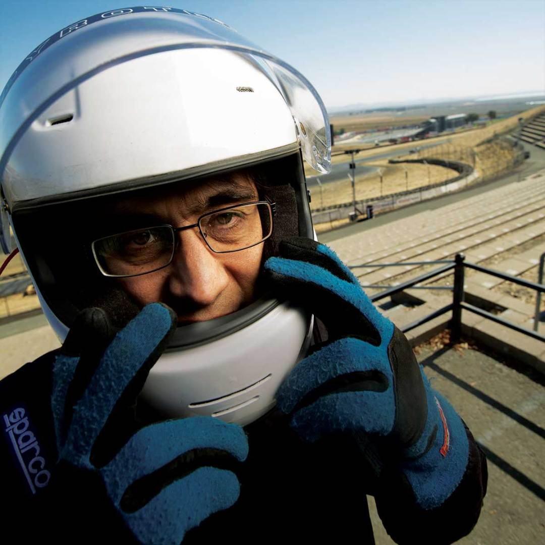 Ian Korf at the racetrack