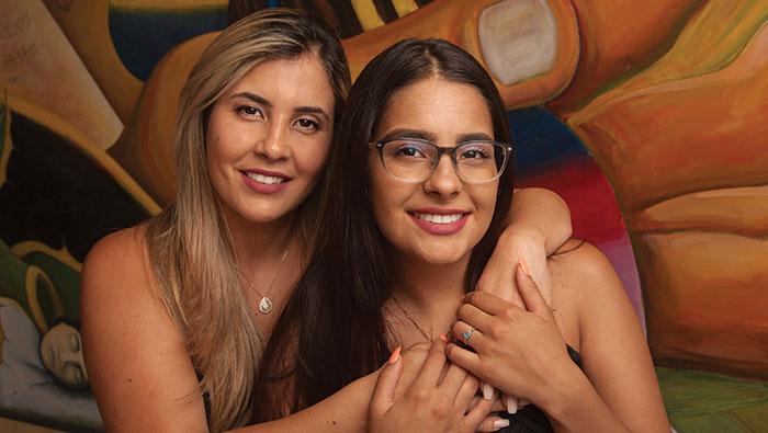 Nagela Castro and Amanda De Castro
