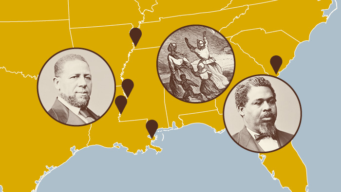 Map illustration of Southeastern US