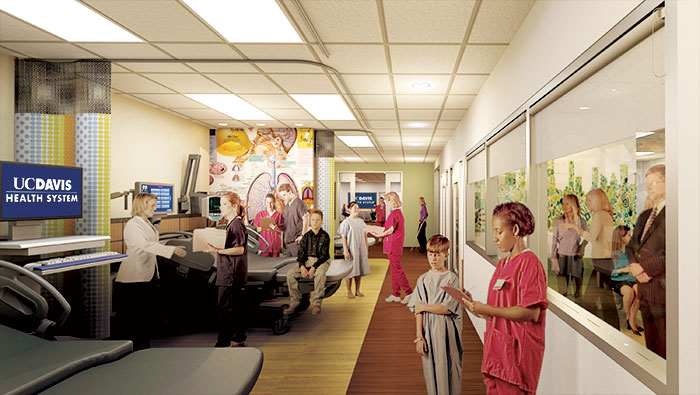 Rendering of simulation labs at nursing school