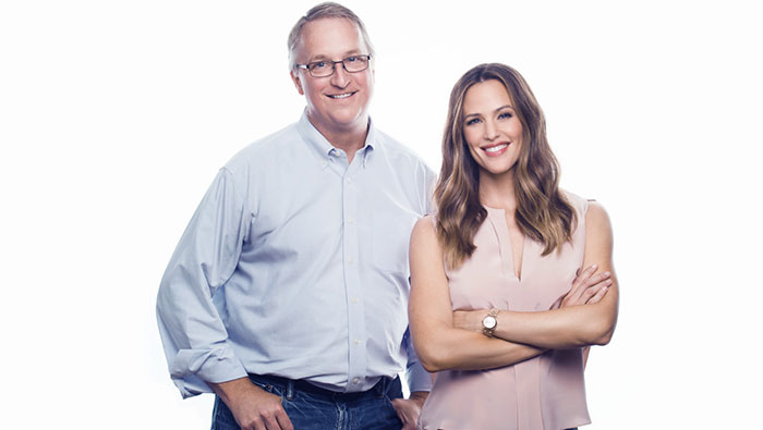 John Foraker with actress Jennifer Garner