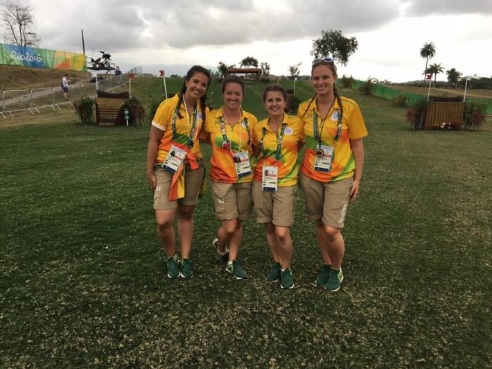 Céline with fellow volunteers in Rio, Brazil for the Olympics.