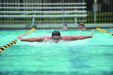 Man performing the butterfly stroke