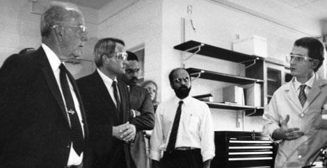 Freeman with Michael Hooker