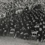 1970 graduation on the quad