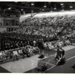 1985 graduate crowd shot at the rac