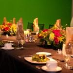 Society dinner set up