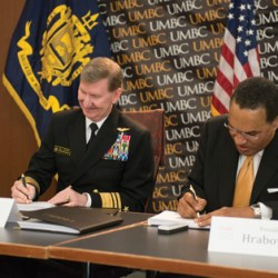 President Hrabowski signs with Navy
