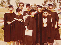 Ernie with other graduates