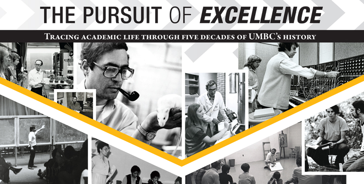 The pursuit of excellence with professors pictures