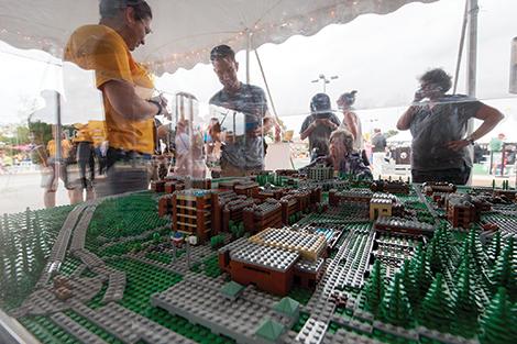 UMBC took shape plastic brick by plastic brick in a Lego display of campus.