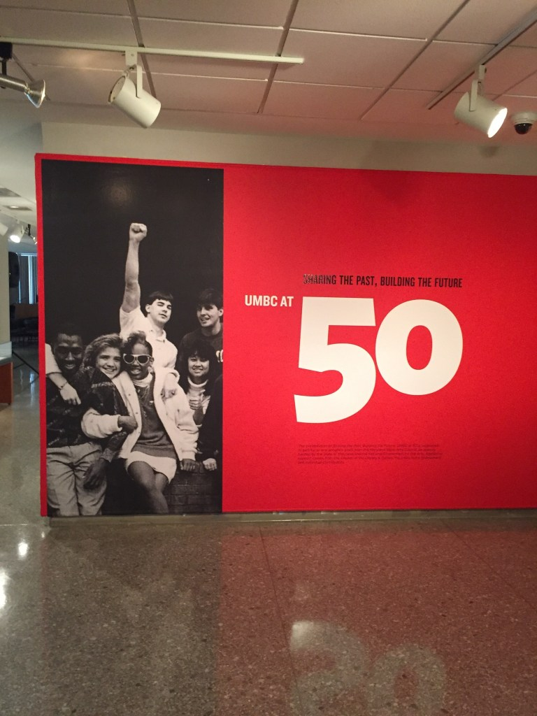 UMBC at 50 exhibit