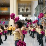 UMBC Cheer team performs at commons