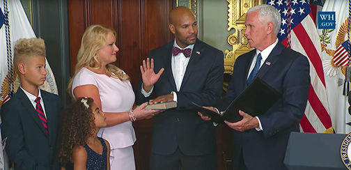 US Surgeon General Jerome Adams swears oath