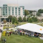 Aerial view of UMBC campus