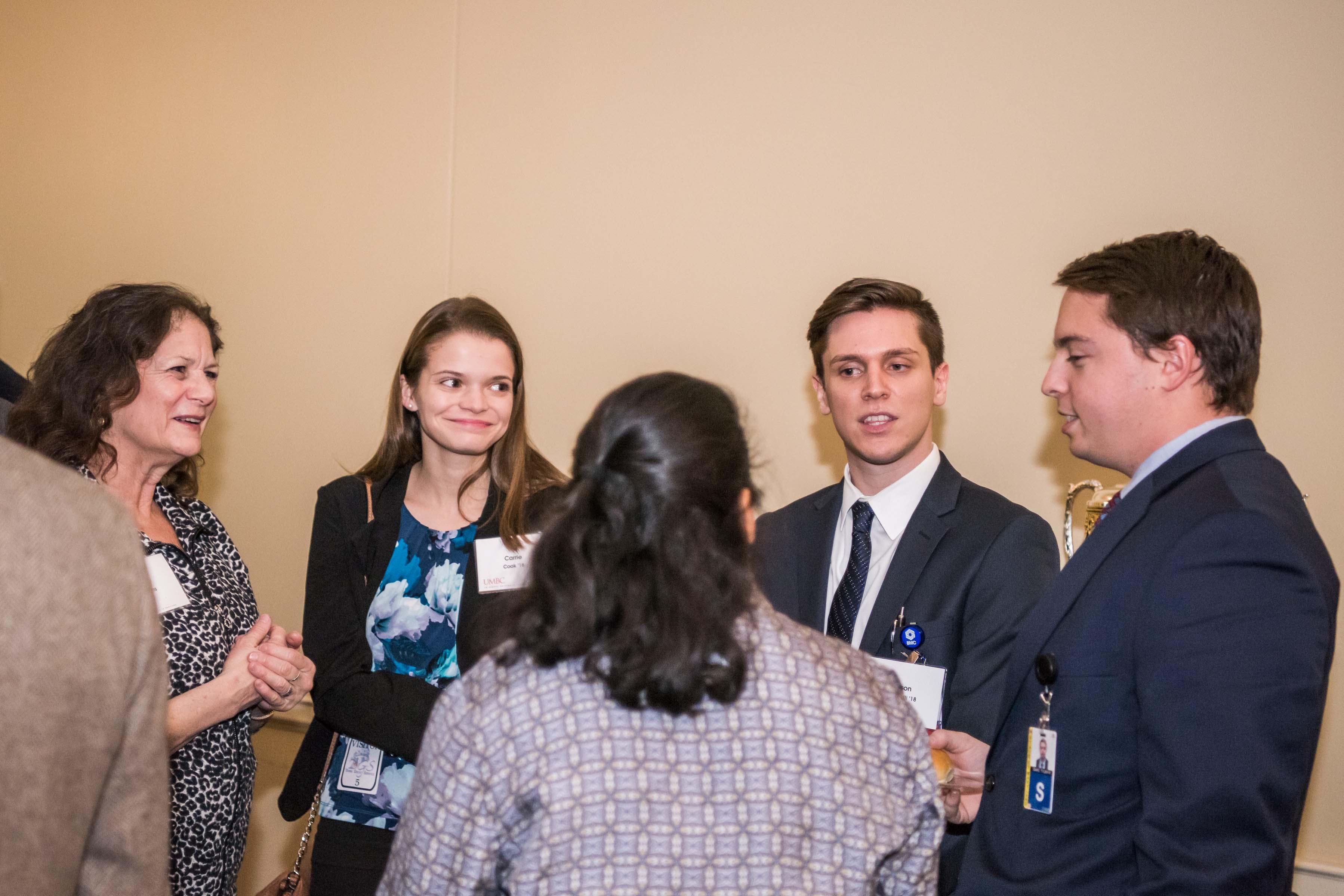 Group talk at Annapolis Alumni reception