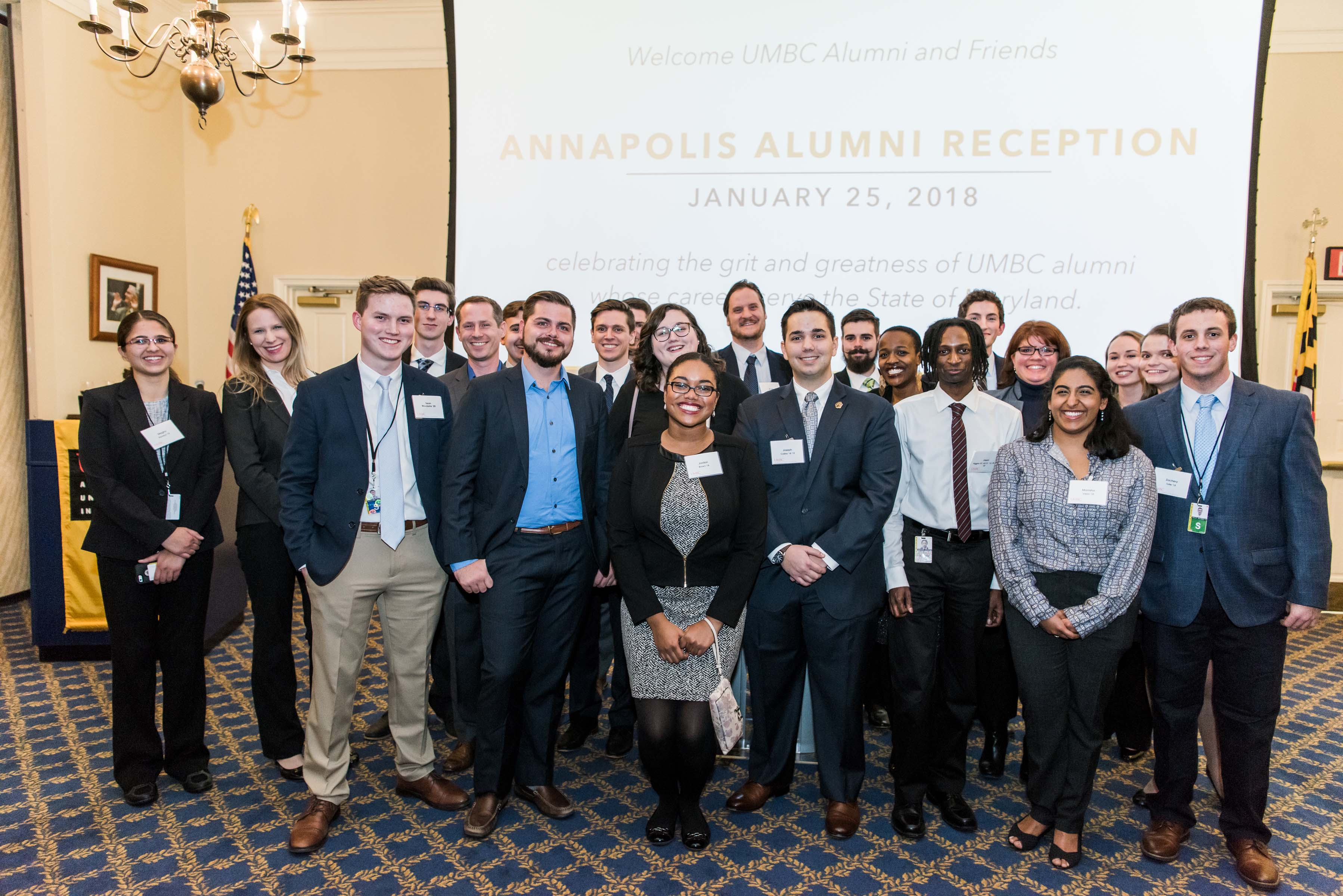 Group poses at Annapolis alumni reception
