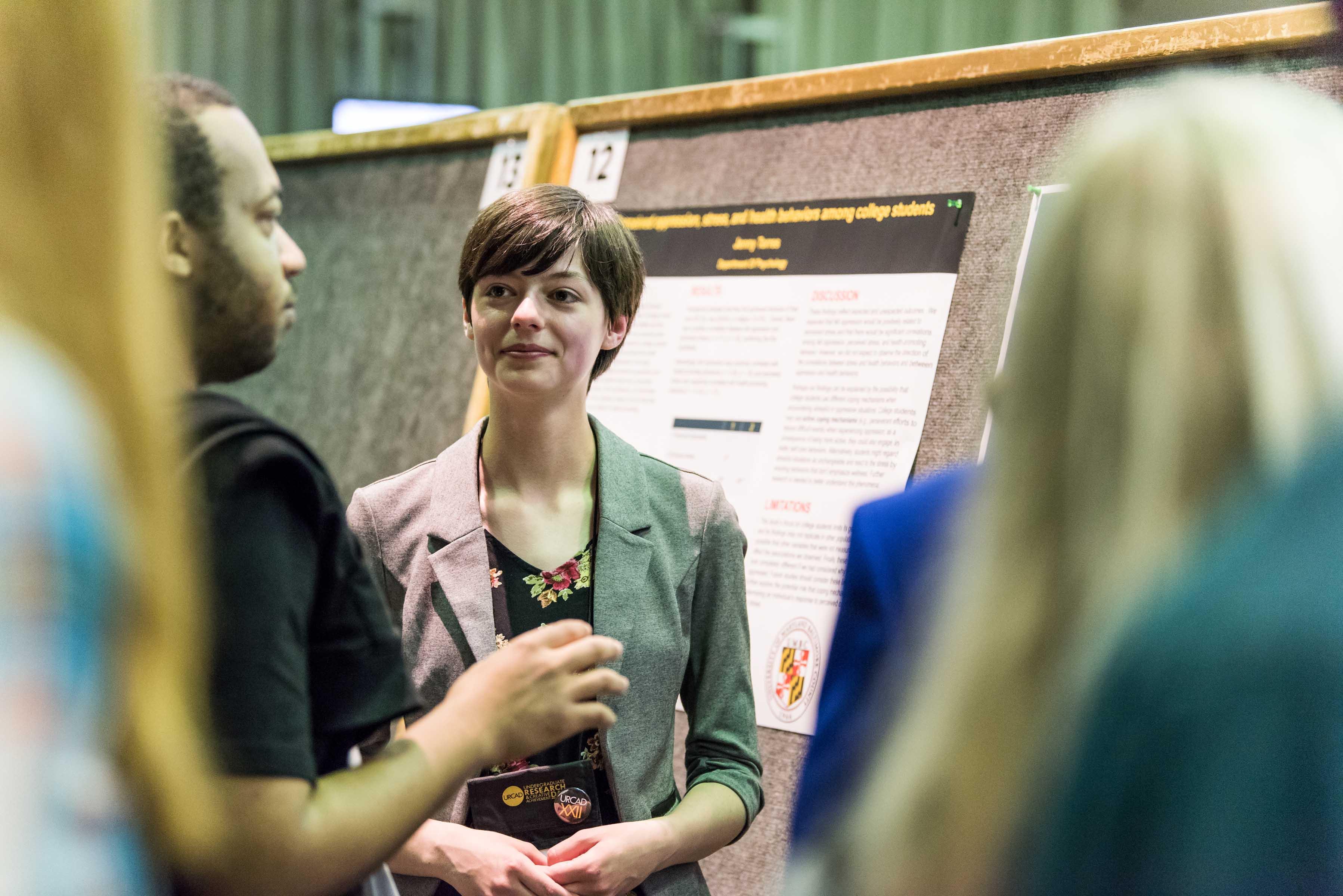Jenn Hewitt presenting findings