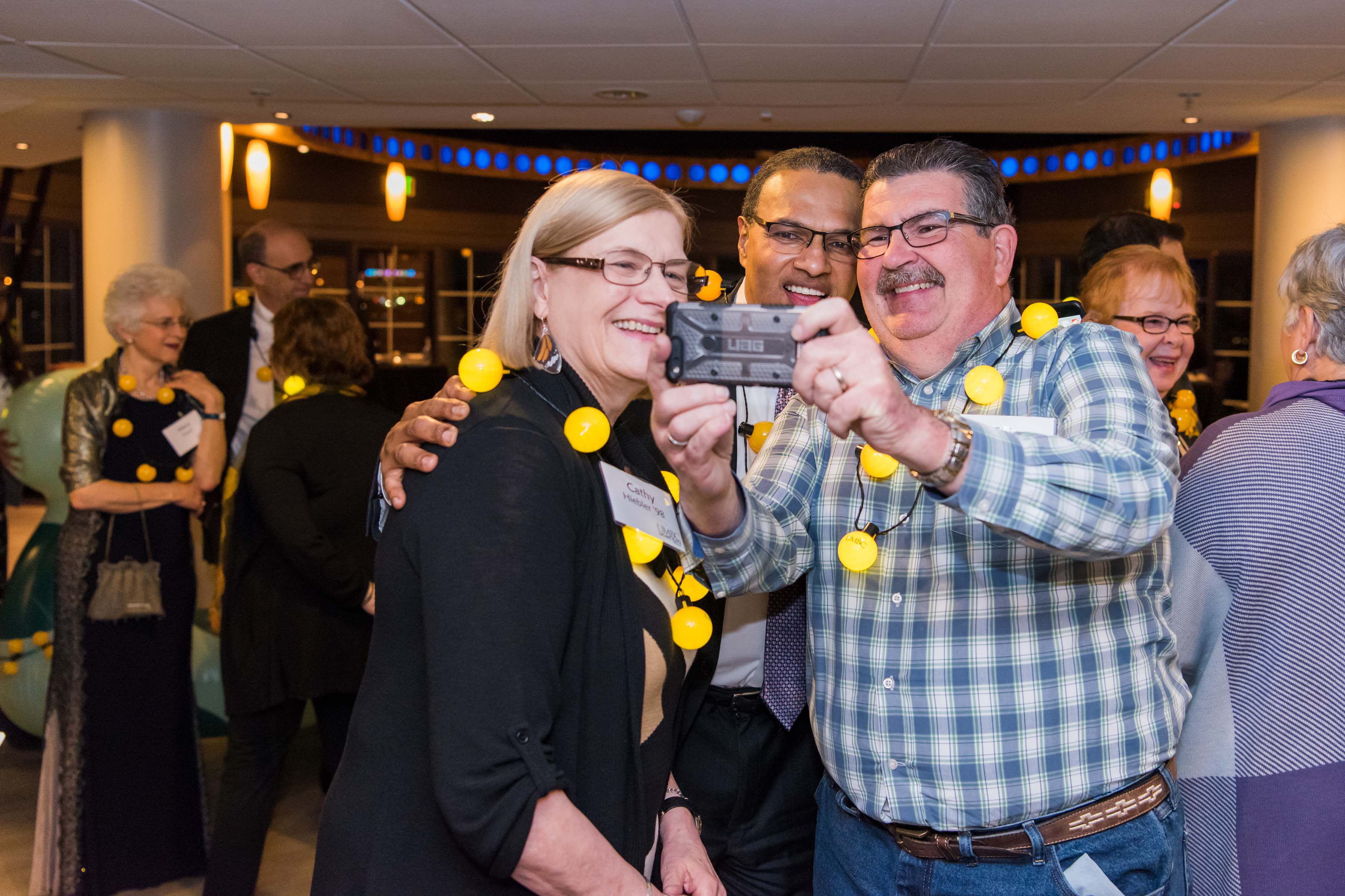 People take selfie with Hrabowski at Light city reception