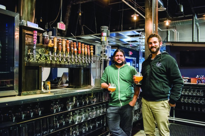 Jordan Baney and Zachary Michel '09 of Hysteria Brewing Company.