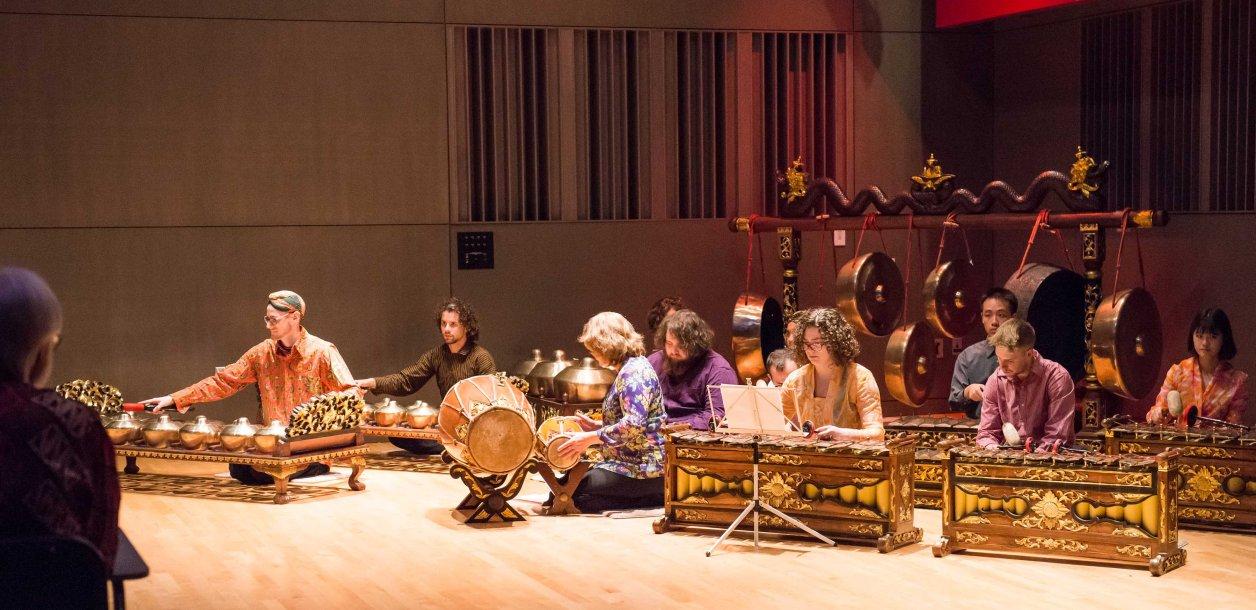 UMBC's gamelan, a unique Indonesian musical instrument