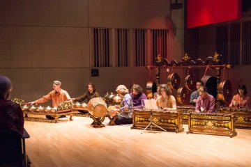 UMBC's gamelan, a unique Indonesian musical instrument