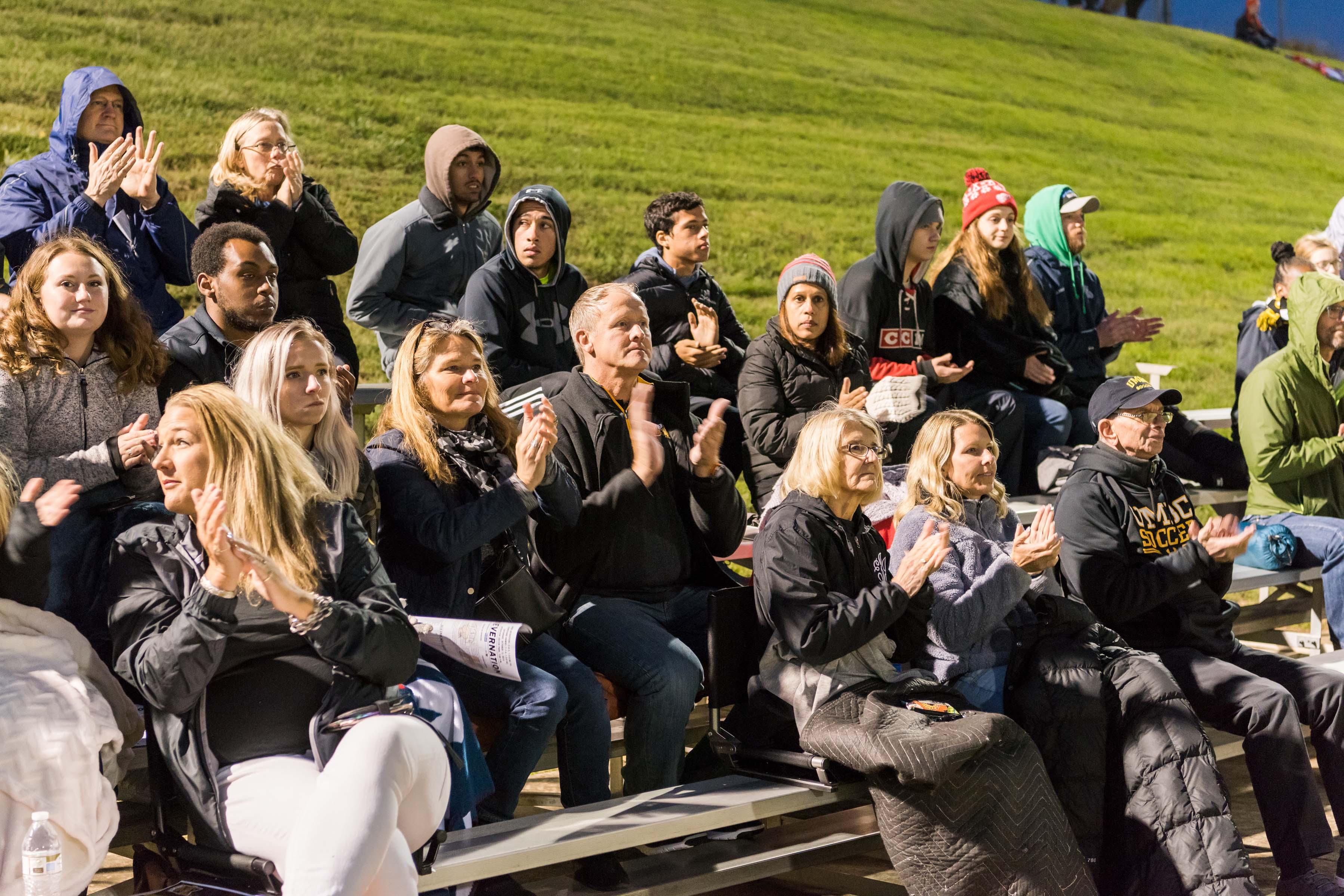 Fans applaud at retriever soccer park
