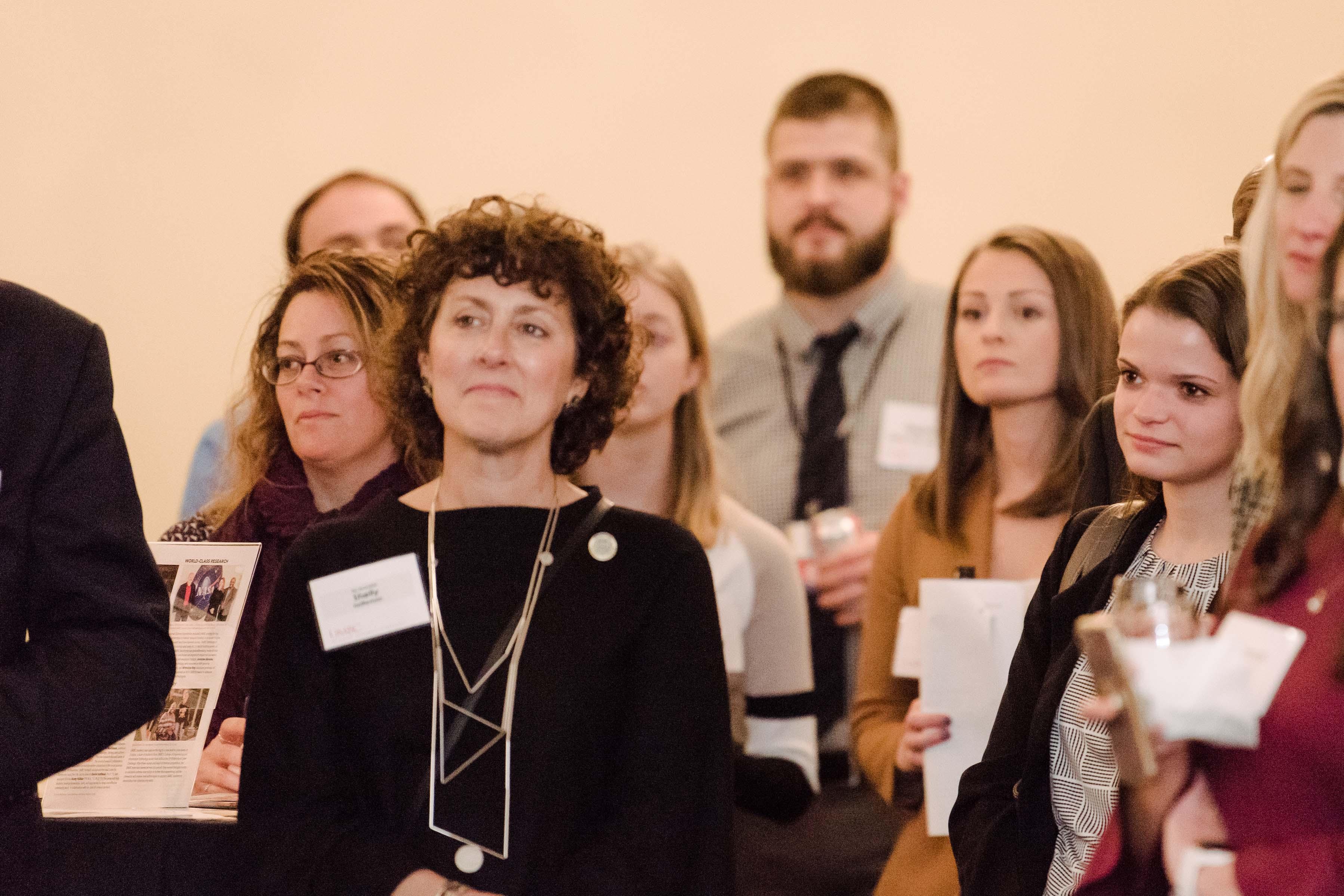 Senator Shelly Hettleman in crowd at Annapolis Alumni Reception