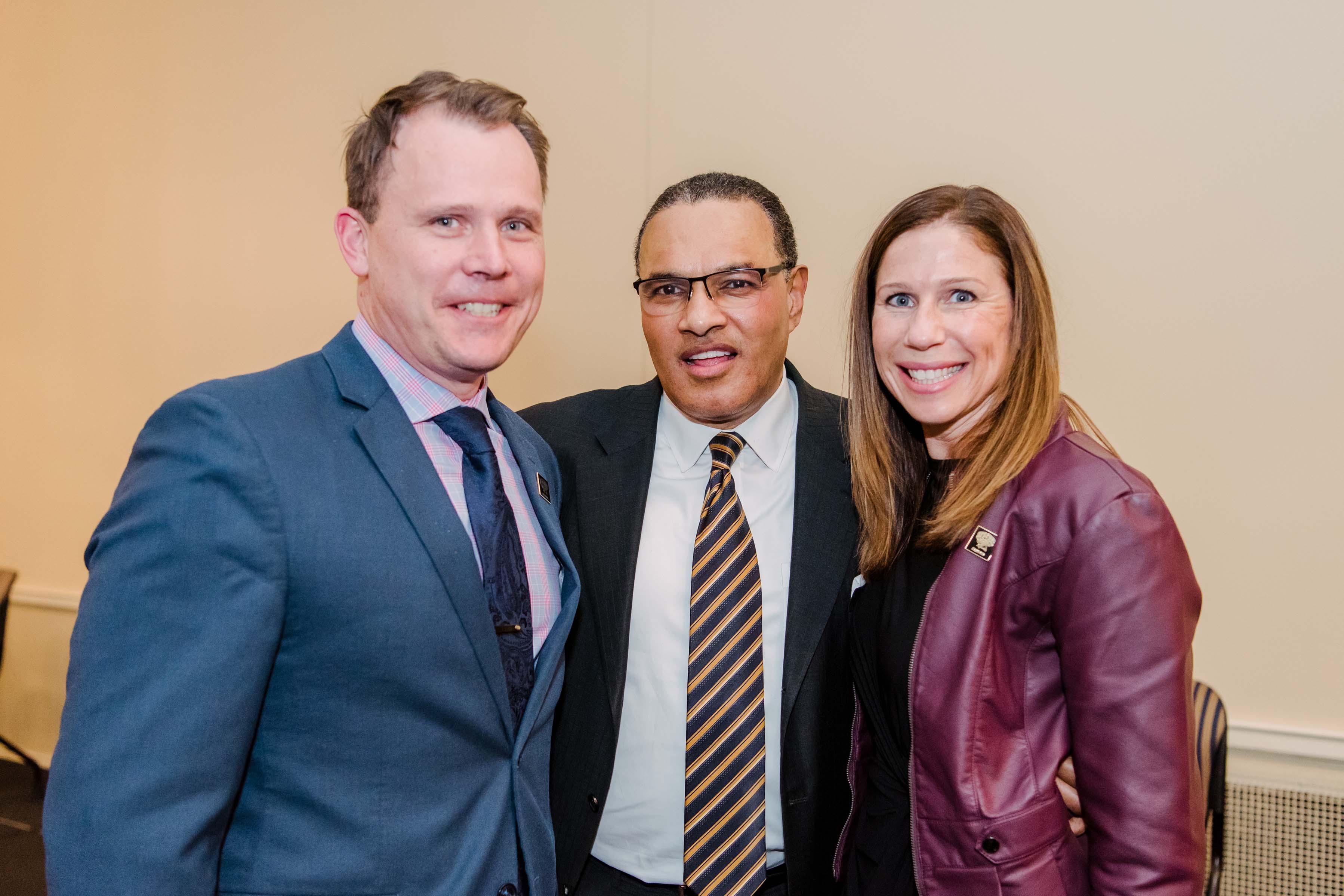 Hrabowski poses with couple at Annapolis Alumni Reception