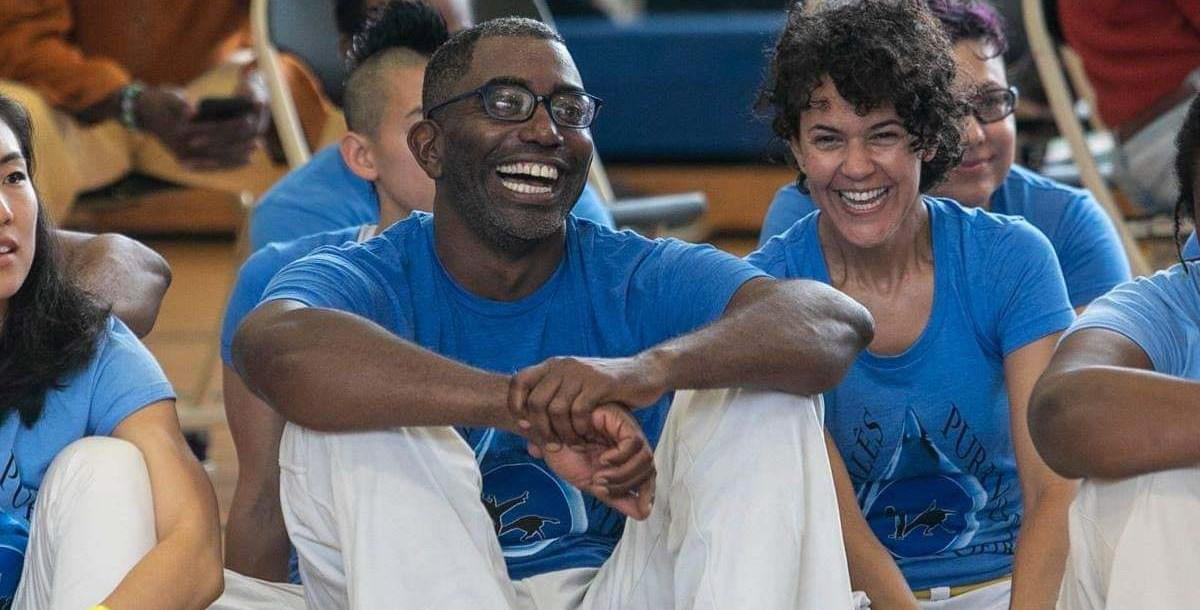 Maceo Thomas with capoeira class.