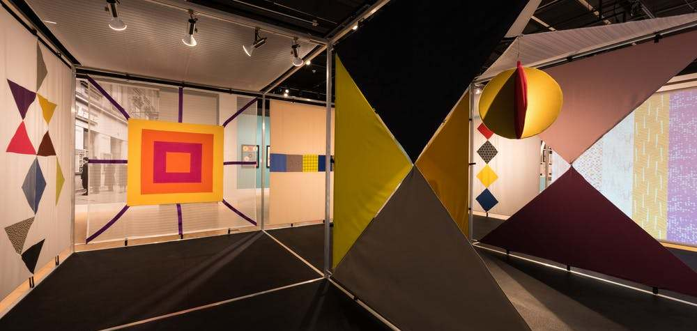 For the 2018 exhibit 'A Designed Life,' the author rebuilt Knoll's 'Contemporary American Textiles.' Dan Meyers, Author provided
