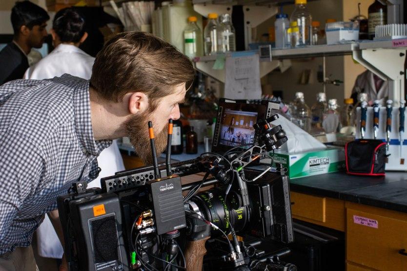 Corey Jennings directing on set.