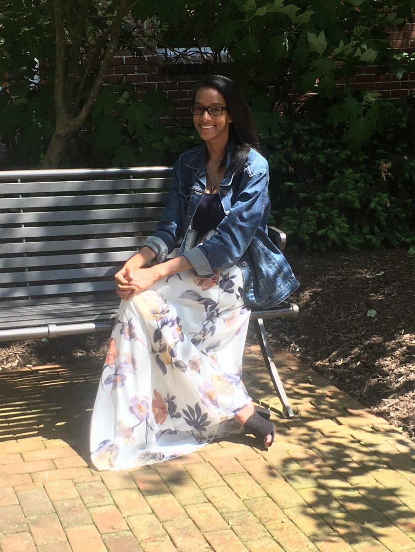 Zena Smith on campus. Photo courtesy of the Smith family.