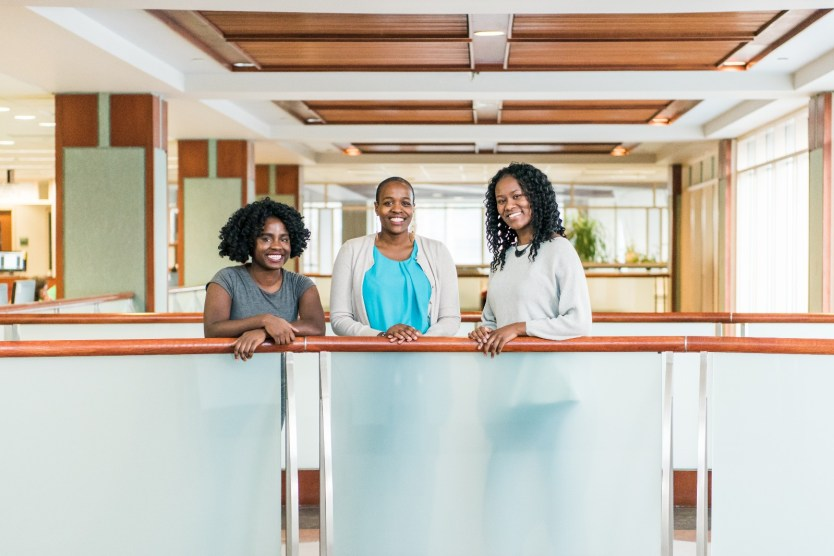 Opoku-Agyeman, Mburu, and Atowunde have retained their close friendship even as post-graduate opportunities have taken them around the world. Photo by Marlayna Demond '11.