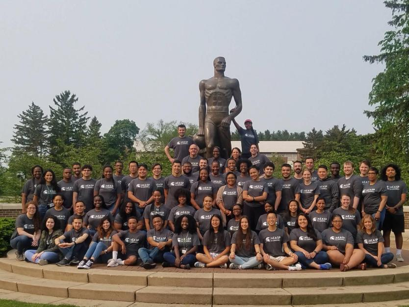 Opoku-Agyeman, front row, center, with her summer cohort at Anna at Michigan State University. Photo courtesy of Opoku-Agyeman.