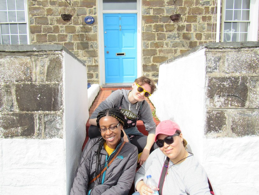 Students from UMBC pose for a photo on a summer trip to Wales.