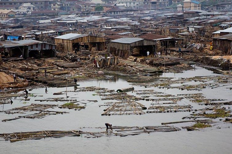 The infamous Makoko slum in Lagos, Nigeria.Stefan Magdalinski/Wikimedia Commons
