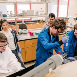 Group of people in lab