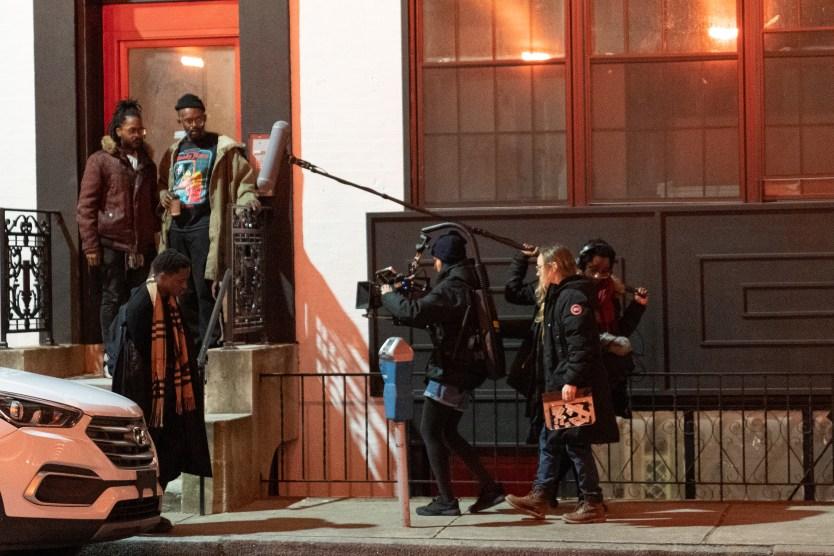 Jovan James on the movie set.