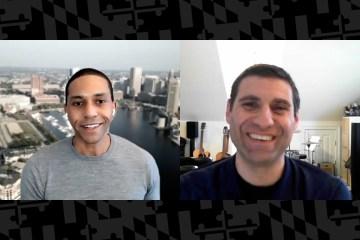 two men communicating through zoom