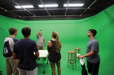 The center includes including a studio with a 3-D green screen.